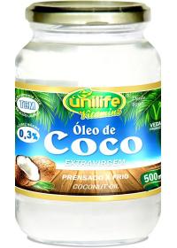 Óleo de Coco Extra Virgem Unilife 500ml