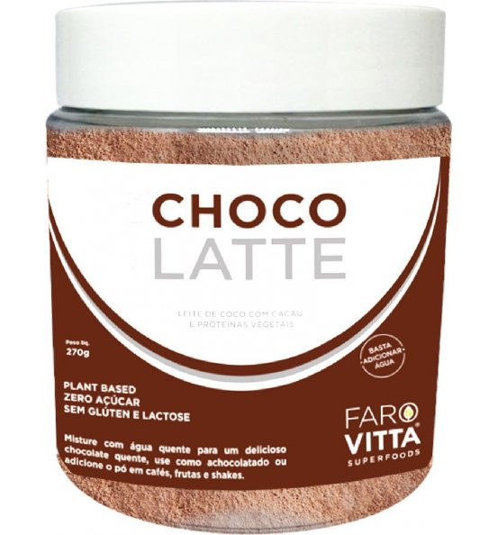 Choco Latte - Leite de Coco c/ Cacau e Proteínas Farovitta 270g