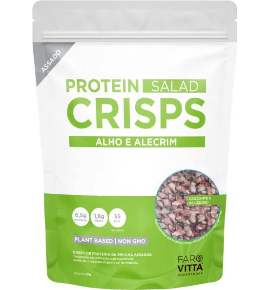 Protein Salad Crisps Alho e Alecrim Farovitta 85g