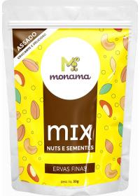 Mix Nuts e Sementes Ervas Finas Monama 30g