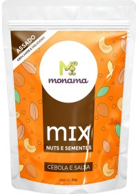 Mix Nuts e Sementes Cebola e Salsa Monama 30g