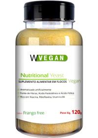 Nutritional Yeast Em Flocos Sabor Frango Free Wvegan 120g