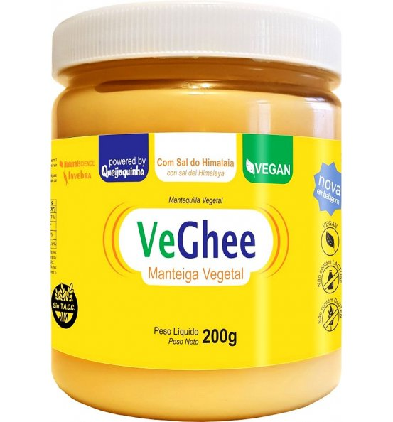 VeGhee Manteiga Vegetal Com Sal do Hiimalaia Natural Science 200g
