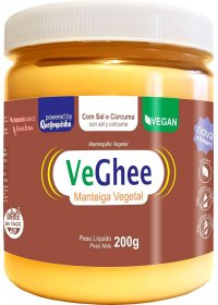 VeGhee Manteiga Vegetal Com Sal e Cúrcuma Natural Science 200g