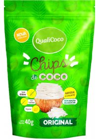 Chips de Coco Original Qualicoco 40g