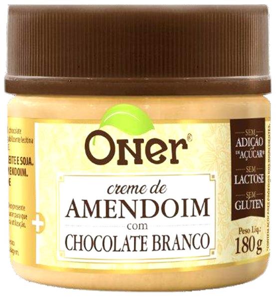 Doce Fit Amendoim com Chocolate Branco Oner 180g