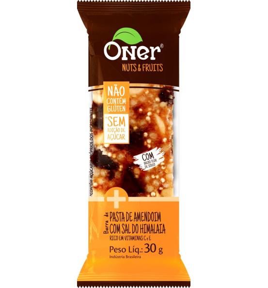 Barra de Pasta de Amendoim c/ Sal do Himalaia Oner 30g