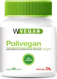 Polivegan Vitaminas e Minerais Wvegan 60 cápsulas de 400mg