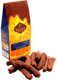 Tiras de Laranja Coberta com Chocolate 56% Tnuva 140g