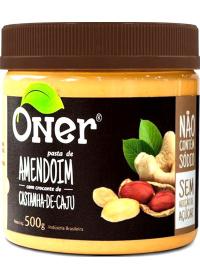 Pasta de Amendoim Crocante de Castanha-de-Caju Oner 500g
