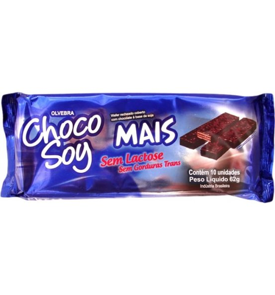 Chocolate de Soja Choco Soy Mais Olvebra 62g