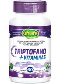 Triptofano + Vitaminas Unilife 60 Cápsulas de 400mg