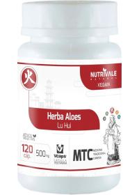 Aloe Vera (Herba Aloes - Lu Hui) Nutrivale 120 cápsulas de 500mg