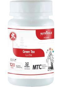 Chá Verde (Green Tea - Lu Cha) Nutrivale 120 cápsulas de 500mg