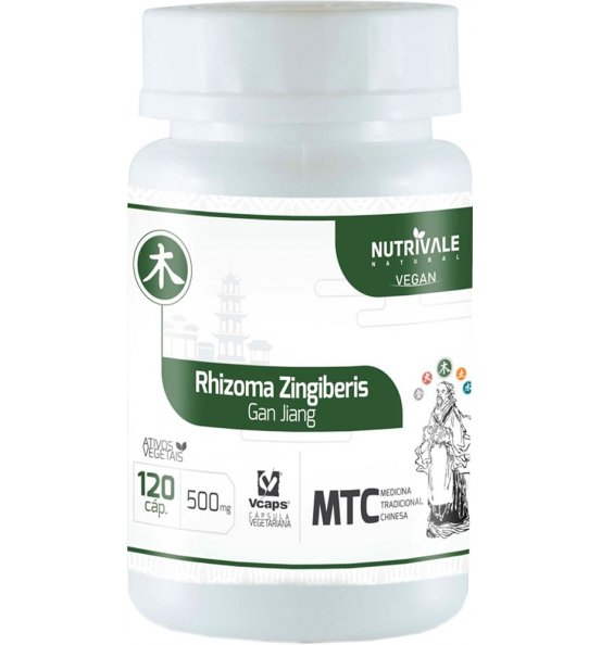 Gengibre (Rhizoma Zingiberis - Gan Jiang) Nutrivale 120 cápsulas de 500mg