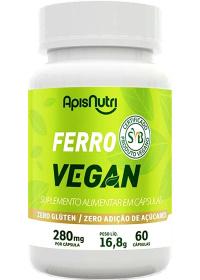Ferro Vegan Apisnutri 60 cápsulas de 280mg