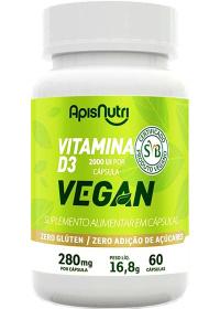 Vitamina D3 Vegan Apisnutri 60 cápsulas de 280mg