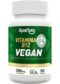 Vitamina B12 Vegan Apisnutri 60 cápsulas de 280mg