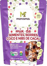 Mix Orgânico Sementes, Berries, Coco e Nibs de Cacau Monama 190g