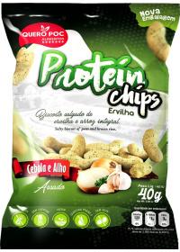 Protein Chips (Proteína Isolada Ervilha) Sabor Alho e Cebola Quero-Poc 40g