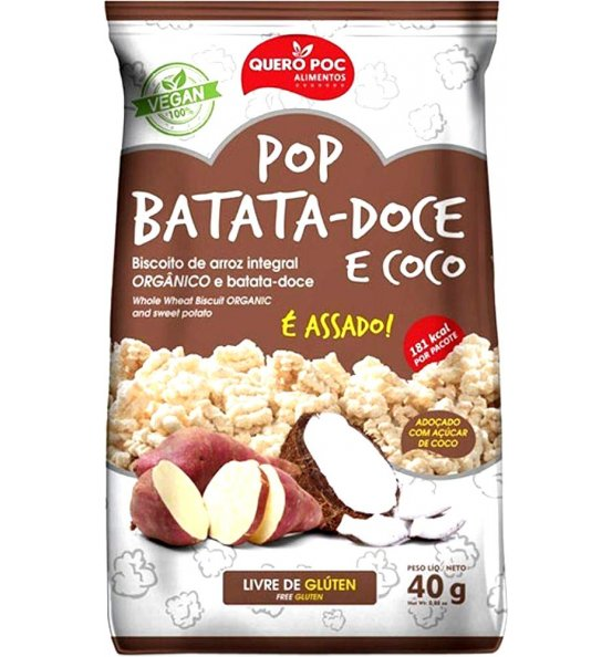 Pop Batata-Doce e Coco Quero Poc 40g