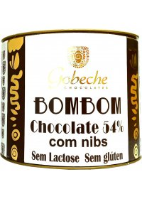Bombom Chocolate 54% Cacau C/ Nibs Gobeche 10 tabletes de 12g