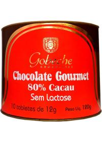 Bombom Chocolate 80% Cacau Gobeche 10 tabletes de 12g