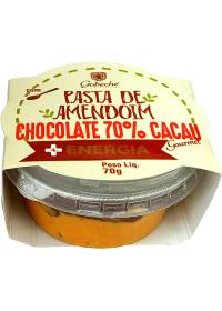 Pasta de Amendoim C Chocolate 70% Cacau + Energia Gobeche 70g