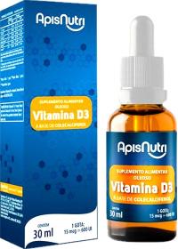 Vitamina D3 Vegan em Gotas Apisnutri 30ml 600UI por gota