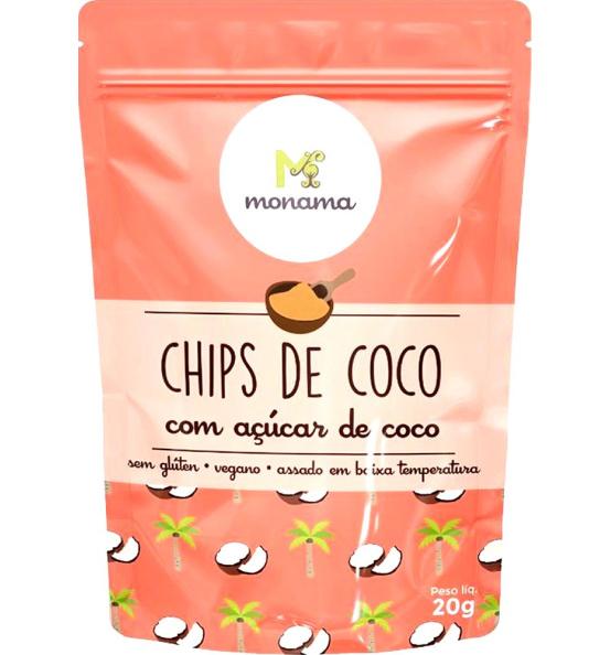 Coco Chips C/ Açúcar de Coco Monama 45g