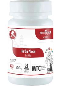 Aloe Vera (Herba Aloes - Lu Hui) Nutrivale 60 cápsulas de 500mg