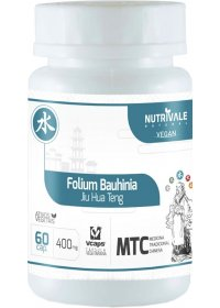 Pata de Vaca (Folium Bauhinia - Jiu Hua Teng) Nutrivale 60 cápsulas de 500mg