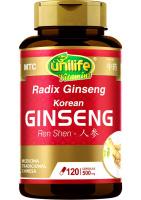 Ginseng (Radix Ginseng - Ren Shen) Unilife 120 cápsulas de 500mg