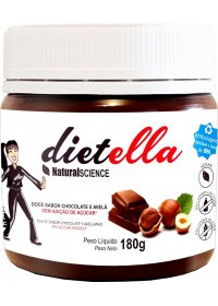 Dietella Doce Chocolate e Avelã S/ Açúcar Natural Science 180g
