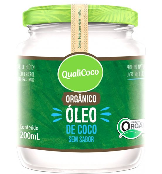 Óleo de Coco Orgânico Sem Sabor Qualicoco 200ml