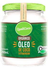 Óleo de Coco Orgânico Extravirgem Qualicoco 200ml