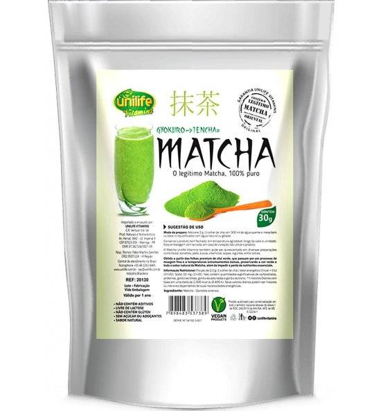 Matcha 100% Puro Orgânico Unilife 30g