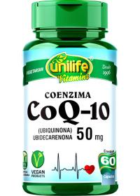 Coenzima CoQ-10 Ubiquinona Unilife 60 cápsulas de 50mg