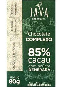 Chocolate Complexo 85% Cacau Intenso Java Chocolates 80g