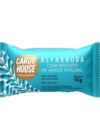 Alfarroba Biscoito de Arroz Integral Carob House 10g