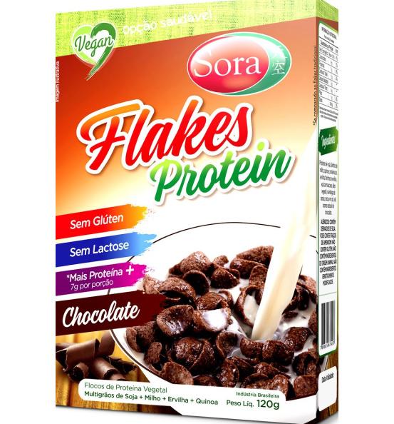 Flakes Protein Sabor Chocolate Sora 120g