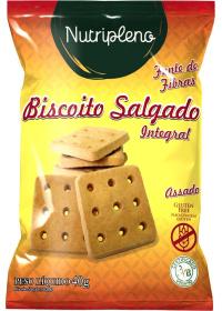 Biscoito Salgado Integral Glúten Nutripleno 40g
