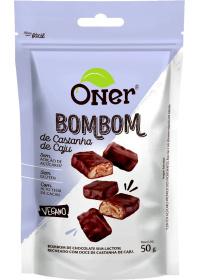 Bombom de Castanha-de-Caju Sem Açúcar Oner 50g