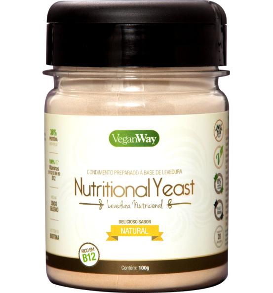 Nutritional Yeast Em Pó Natural VeganWay 100g