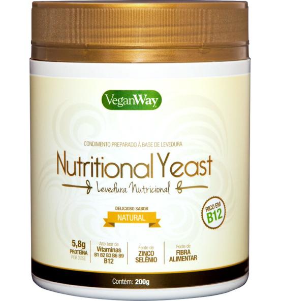 Nutritional Yeast Em Pó Natural VeganWay 200g