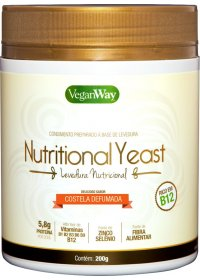 Nutritional Yeast Em Pó Sabor Costela Defumada VeganWay 200g