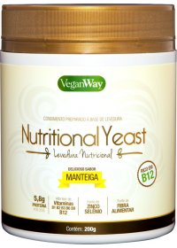 Nutritional Yeast Em Pó Sabor Manteiga VeganWay 200g