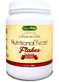 Nutritional Yeast Em Flocos (Levedura Nutricional) Sabor Natural VeganWay 500g