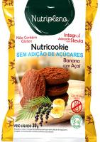 Cookie Integral Banana C/ Açaí S/ Açúcar Sem Glúten Nutripleno 30g