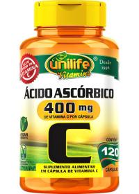 Vitamina C Ácido Ascórbico Unilife 120 cápsulas